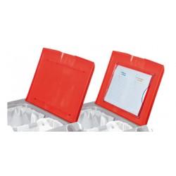 Couvercle pour charîot IDEATOP rouge sans porte document