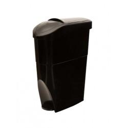 Container 22L SERENA noir à pédale pour sachets périodiques