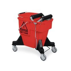 Chariot ALEX COMBI rouge avec seau 20L + presse à 2 rouleaux