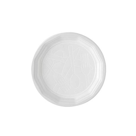 Assiette blanche D.22 - Colis 1200