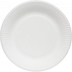 Assiette blanche en carton 100% biodégradable D.18 - Colis 1000