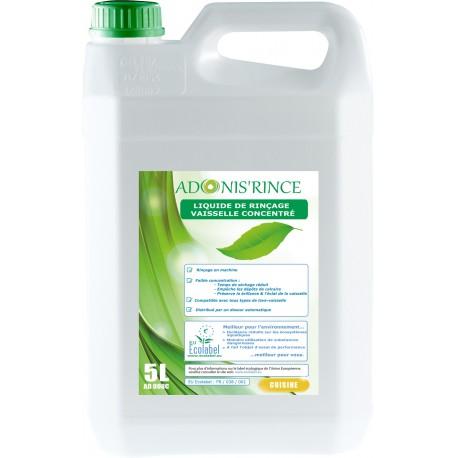 Liquide rinçage ADONI'S RINCE machine ECOLABEL LABOJAL - Bidon 5L