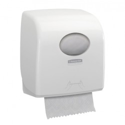 Distributeur essuie-mains rouleaux 190m AQUARIUS SLIMROLL blanc
