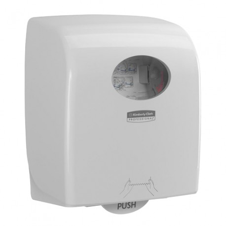 Distributeur essuie-mains rouleaux 350m AQUARIUS blanc