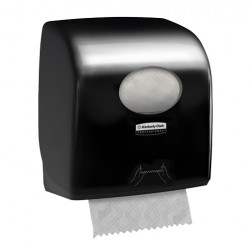 Distributeur essuie-mains rouleaux 350m AQUARIUS noir