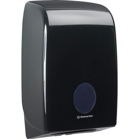 Distributeur essuie-mains pliés interfoliés AQUARIUS noir