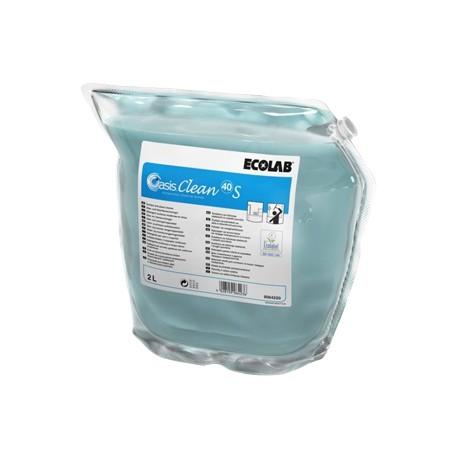 Détergent vitres & surfaces OASIS CLEAN 40 S ECOLAB -9064220- Ct 2x2L