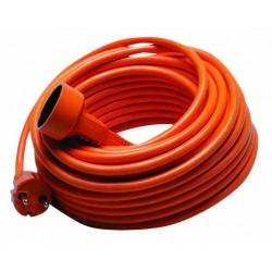 Cordon prolongateur orange pour jardin L 25m / Câble 2x1,5mm²