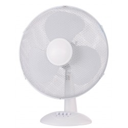 Ventilateur de table blanc 40cm 3 vitesses
