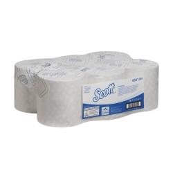 Essuie-mains 1 pl. ouate blanc 350m SCOTT ECOLABEL - Colis 6 rlx