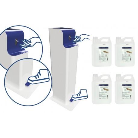 Station de désinfection à pied bidon  5L avec pompe(article composé)
