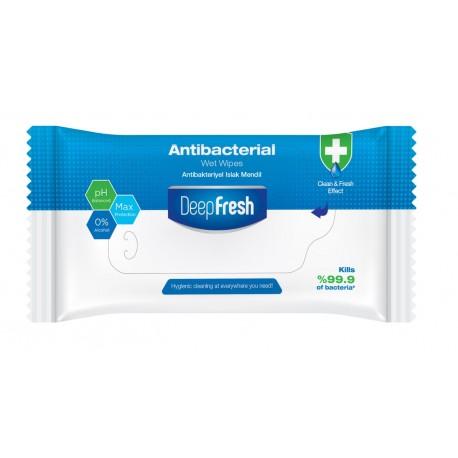Lingettes bactéricide DEEP FRESH - Sachet de 15