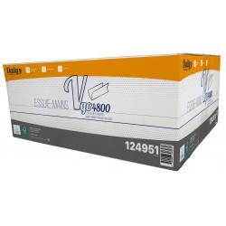 EMP 2 pl. g/c en V pure ouate blanc Ecolabel 22.5x21cm - Ct de 4800