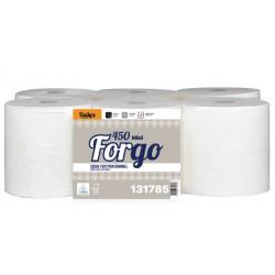 Essuie-tout 450 FORGO Mini ECOLABEL 2p pure ouate blanc- Colis de 6