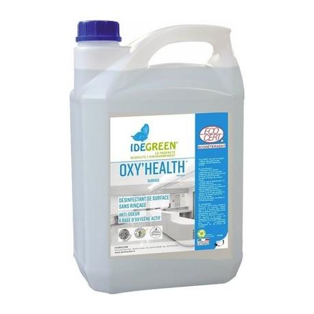 Désinfectant des surfaces OXY'HEALTH IDEGREEN -1086- Bidon 5L