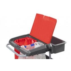 Couvercle pour charîot IDEATOP rouge avec porte document