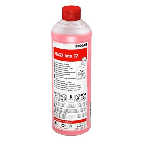 Nettoyant sanitaire MAXX INTO C2 ECOLAB  - 9084520 - Bidon 1L