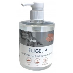 Gel hydroalcoolique ELIGEL A-Flacon 500ml avec Pompe