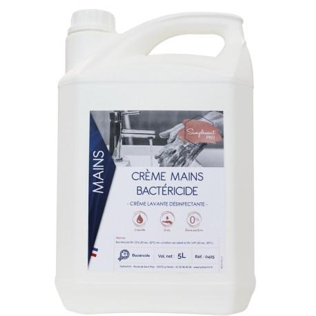 Crème lavante mains bactéricide neutre - Bidon 5L