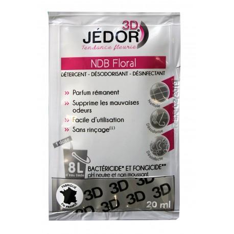Dosettes 20ml détergent surodorant bactéricide 3D JEDOR -  Ct de 250