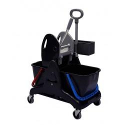 Chariot TRISTAR 30 BASIC avec presse a plat - 2 seaux x 15L