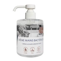 Crème lavante mains bactéricide neutre - 0425 - Bidon 500ml+pompe