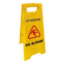 """Panneau de signalisation """"sol glissant"""""""