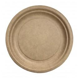 Assiette kraft biodegradable D23 - Ct de 700