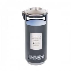 Cendrier corbeille gris manganèse DUBAI 70L