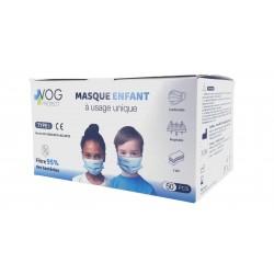 Masque enfant Type I Norme EN 14683:2019+AC2019 - Boite de 50