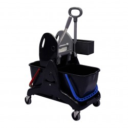 Chariot de lavage TRISTAR 30 BASIC presse a machoires - 2 seaux x 15L