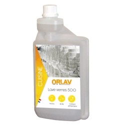 Liquide lave-verre 500 ORLAV - 0216 - Ct de 6x1L