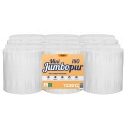 PH mini Jumbo 180m ECOLABEL 2 pl. pure ouate blanc - Colis 12 rlx