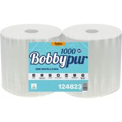 1000 fts pure ouate blanc Ecolabel 2 pl. 23.5x30.5cm - Colis 2 bob.