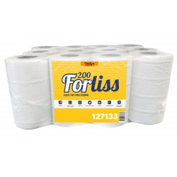 Essuie-tout 200 fts dev. central 2 pl. pure ouate blanc - 12 bob.