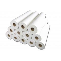 Drap d'examen blanc PO 2 plis lisses 270 fts 50x35cm - Ct de 6 rlx
