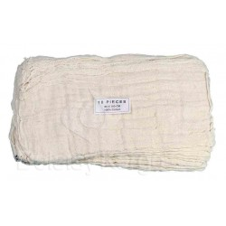 Gaze coton réutilisable avec trou central 80x60cm - Sachet de 10