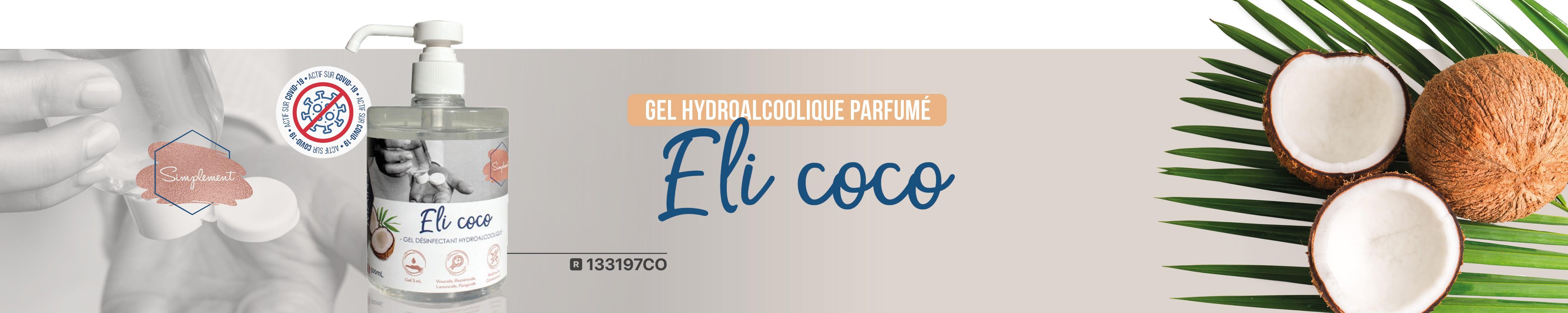 Gel hydroacloolique parfum coco 133197CO