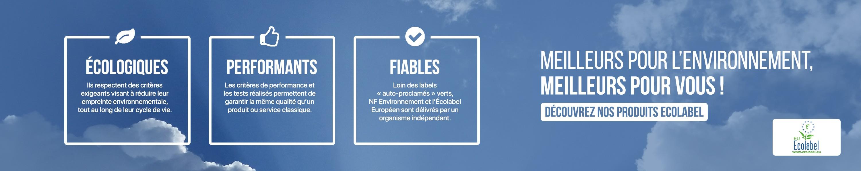 Meilleurs pour l'environnement, meilleurs pour vous !