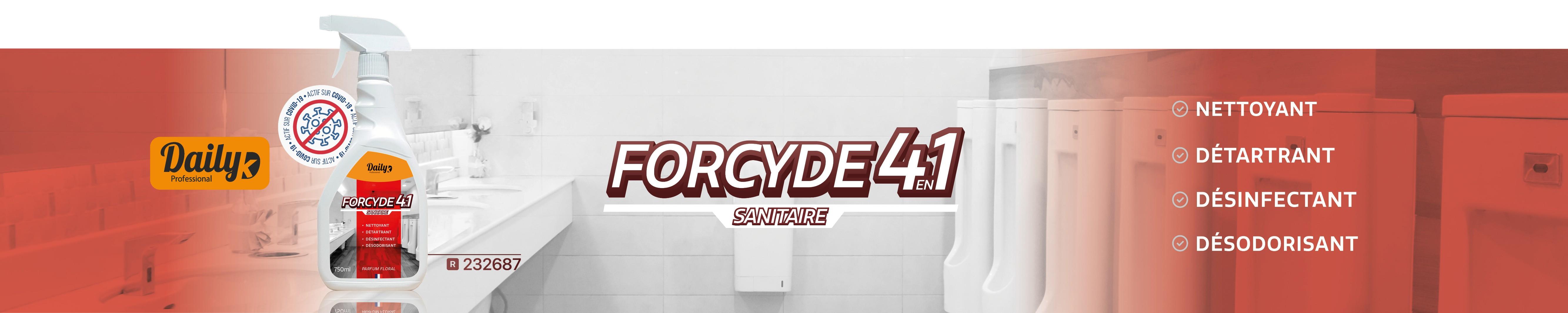 Forcyde 4en1 nettoyant détartrant désinfectant désodorisant sanitaire 232687